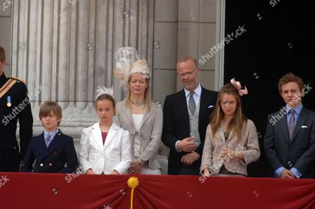 Trooping of the Colour to Celebrate Hm the Queens 80th Offical Birthday Scenes at Buckingham Palace Lady Helen Taylor with Her Children Eloise Taylor & Columbus Taylor the Earl of St Andrews Lady Amelia Windsor Lord Downpatrick