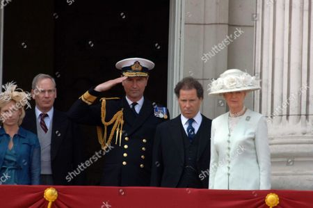 Trooping of the Colour to Celebrate Hm the Queens 80th Offical Birthday Scenes at Buckingham Palace Lady Davina Lewis Her Father Duke of Gloucester Rear Admiral Tim Laurence Viscount David Linley Princess Alexandra