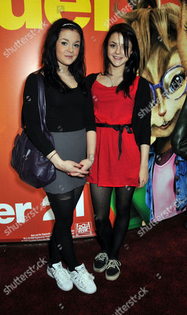 Uk Premiere of 'Alvin and the Chipmunks 2 - the Squeakquel' at the Empire Leicester Square Kathryn and Megan Prescott