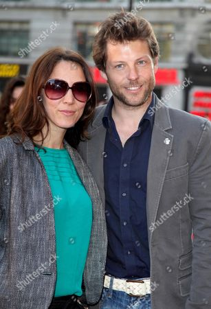 Uk Premiere of 'State of Play' at the Empire Leicester Square Jamie Bamber with His Wife Kerry Norton