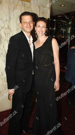 Stock Photo of Uk Premiere of 'V For Vendetta' at the Empire Leicester Square Natasha Wightman and Her Husband George Duffield
