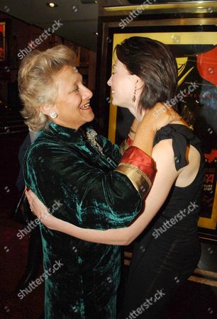 Uk Premiere of 'V For Vendetta' at the Empire Leicester Square Dame Vivien Duffield with Her Daughter in Law Natasha Wightman