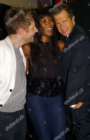 Vip Private View For ' Vanity Fair Portraits: Photographs From 1913 to 2008' at the National Portrait Gallery Christopher Bailey Naomi Campbell and Mario TestinoNo Monthly Magazines - Call For Info