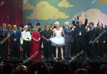We Are Most Amused A Comedy Show Celebrating the 60th Birthday of Hrh the Prince of Wales at Wimbledon Theatre Wimbledon London Andrew Sachs Joan Rivers Robin Williams Eric Idlephillip Scofield John Cleese Rowan Atkinson & Bill Bailey