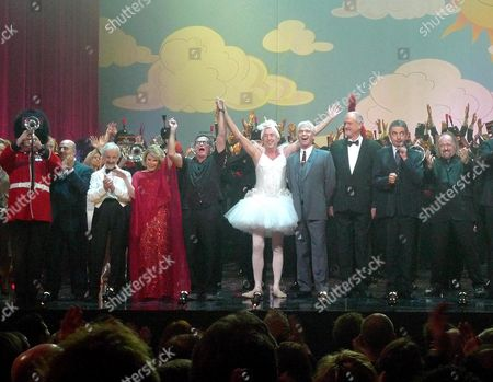 We Are Most Amused A Comedy Show Celebrating the 60th Birthday of Hrh the Prince of Wales at Wimbledon Theatre Wimbledon London Andrew Sachs Joan Rivers Robin Williams Eric Idle Phillip Scofield John Cleese Rowan Atkinson & Bill Bailey