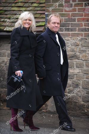 Wedding St Marys Church Easebourne Camille Coduri with Her Husband Christopher Fulford