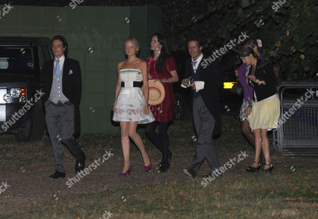 Afterparty Following the Wedding of Lord Freddie Windsor and Sophie Winkleman at Lady Annabel Goldsmiths Home in Ham London Tom the Earl of Lichfield Followed by His Sister Lady Eloise Anson