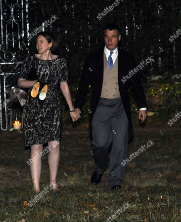 Afterparty Following the Wedding of Lord Freddie Windsor and Sophie Winkleman at Lady Annabel Goldsmiths Home in Ham London Earl of Ulster with His Wife Claire Booth