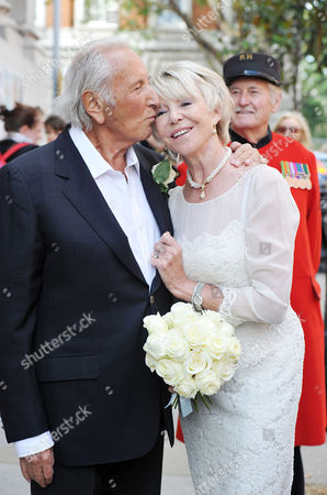 Wedding of Michael Winner to Geraldine Lynton-edwards at Chelsea Registry Office the Bride and Groom After the Service