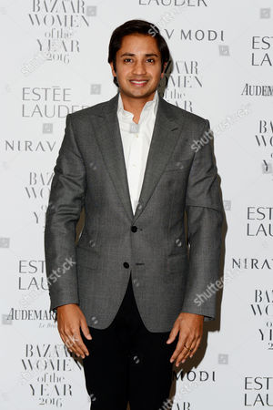 London, England 31st October 2016: Aditya Mittal at the Harpers Bazaar Women of the Year 2016 Awards Sponsored by Nirav Modi at Claridges, London, England On the 31st October 2016.