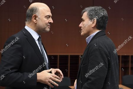 Stock Picture of Euclidis Tsakalotos / Pierre Moscovici