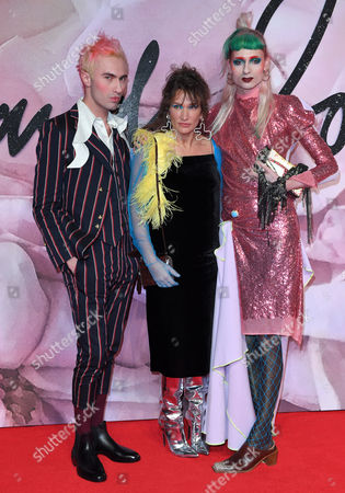 Charles Jeffrey, Lulu Kennedy and Matty Bovan