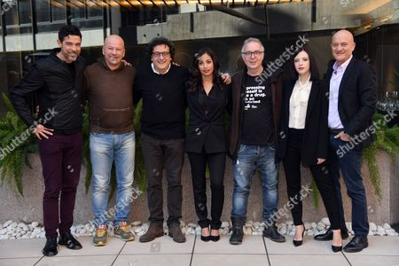 Alessandro Gassmann, Giovanni Cacioppo, Massimo De Lorenzo, Nabiha Akkari, the director Luca Miniero, Laura Adriani, Claudio Bisio