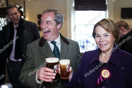Editorial image of Nigel Farage campaigning in Sleaford, Lincolnshire, UK - 05 Dec 2016