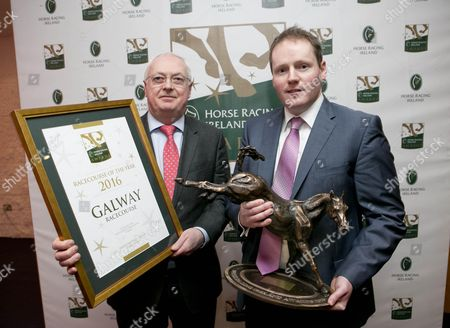 Peter Allen and Michael Moloney of Galway Racecourse who won the Racecourse of the Year Award