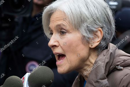 Jill Stein, the presidential Green Party candidate, speaks at a news conference in front of Trump Tower, in New York. Stein has pushed for recounts in the election vote in Wisconsin, Pennsylvania and Michigan