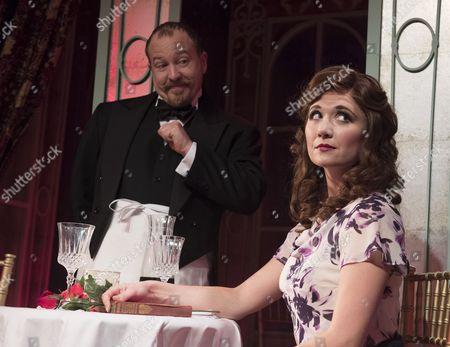 Cory English as The Waiter, Scarlett Strallen as Amalia