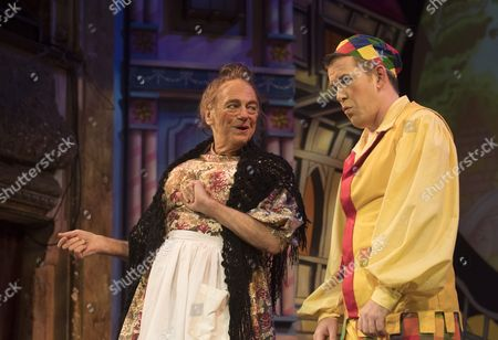 Editorial picture of 'Mother Goose' Pantomime performed at Wilton's Music Hall, London UK, 05 Dec 2016
