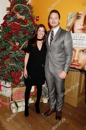 Stock Image of Jane Sarkin (VF Features Editor) and Chris Pratt