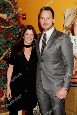 Stock Photo of Jane Sarkin (VF Features Editor) and Chris Pratt