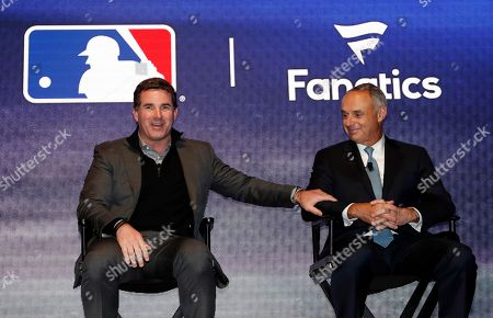 Kevin Plank, Rob Manfred Under Armour Chief Executive Officer and founder Kevin Plank, left, speaks on stage with Major League Baseball commissioner Rob Manfred during an Under Armour announcement event at Major League Baseball's winter meetings, in Oxon Hill, Md. Under Armour will take over as the supplier of Major League Baseball uniforms in 2020