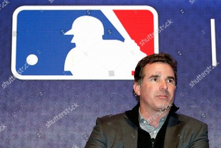 Under Armour Chief Executive Officer and founder Kevin Plank speaks on stage during an Under Armour announcement event at Major League Baseball's winter meetings, in Oxon Hill, Md. Under Armour will take over as the supplier of Major League Baseball uniforms in 2020