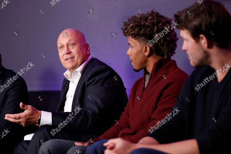 Former Baltimore Orioles player Cal Ripken Jr., speaks during an Under Armour announcement event at Major League Baseball's winter meetings, in Oxon Hill, Md. Under Armour will take over as the supplier of Major League Baseball uniforms in 2020