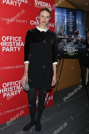 Editorial picture of 'Office Christmas Party' film screening, New York, USA - 05 Dec 2016