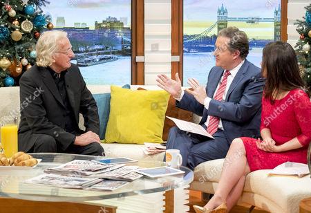 John Pilger, Piers Morgan and Susanna Reid