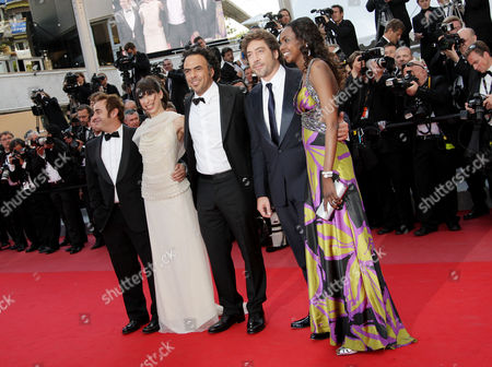 'Biutiful' Red Carpet at the Festival De Palais During the 63rd Cannes Film Festival Eduard Fernandez Maricel Alvarez Alejandro Gonzalez Inarritu Javier Bardem and Diaryatou Daff