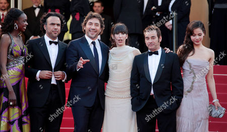 'Biutiful' Red Carpet at the Festival De Palais During the 63rd Cannes Film Festival Diaryatou Daff Alejandro Gonzalez Inarritu Javier Bardem Maricel Alvarez Eduard Fernandez and Martina Garcia