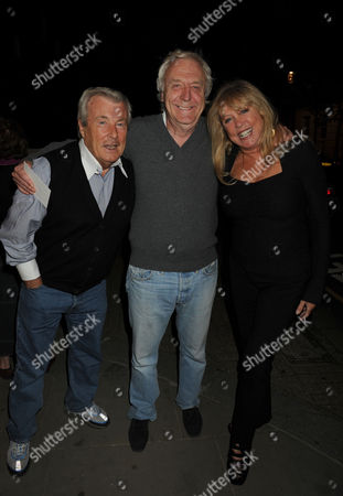 Private View at the Little Black Gallery Park Walk London of 'I Want It All' an Exhibition of Photographs of Film Stars Rock Legends Cooks and Queens Terry O'neil Sir Frank Lowe & Patti Boyd