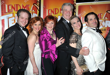 'Lend Me A Tenor' Press Night Afterparty at Number 8 Northumberland Ave Damian Humbley Sophie-louise Dann Cassidy Janson Matthew Kelly Joanna Riding and Michael Matus