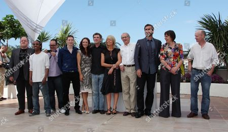 'Looking For Eric' Photocall at the 62nd Cannes Film Festival Gerard Kearns Lucy-jo Hudson Steve Everts Ken Loach and Eric Cantona