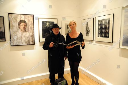 The Private View of 'Most Wanted' at the Little Black Gallery Park Walk Chelsea London Barry Lategan & Tamara Veroni ( Beckwith )