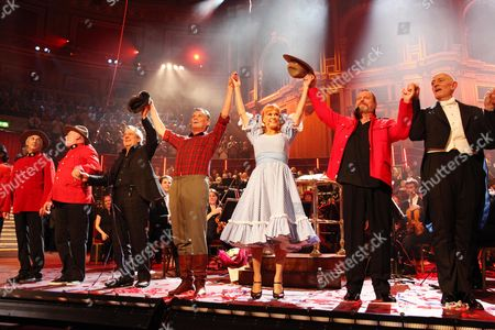 'Not the Messiah' Special Show to Celebrate the 40th Anniversary of Monty Python at the Royal Albert Hall Terry Jones Michael Palin Carol Cleveland Terry Gilliam and John Du Prez