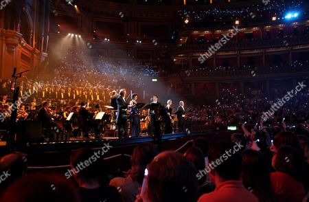 'Not the Messiah' Special Show to Celebrate the 40th Anniversary of Monty Python at the Royal Albert Hall John Du Prez Rosalind Plowright William Ferguson Shannon Mercer Christopher Purves and Eric Idle