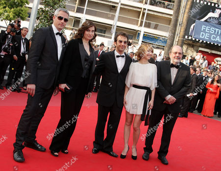 'Poetry' Red Carpet at the Festival De Palais During the 63rd Cannes Film Festival Marc Recha Emmanuelle Devos Atom Egoyan Dinara Droukarova and Carlos Diegues