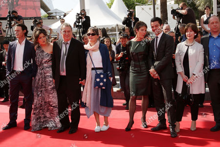 'Tamara Drewe' Red Carpet at the Festival De Palais During the 63rd Cannes Film Festival Luke Evans Lola Frears Stephen Frears with His Wife Anne Rothenstein Tamsin Greig and Dominic Cooper