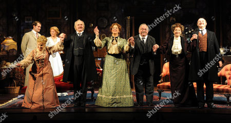 'When We Are Married' Press Night Curtain Call at the Garrick Theatre Michele Dotrice Simon Rouse Maureen Lipman Sam Kelly Susie Blake and David Horovitch