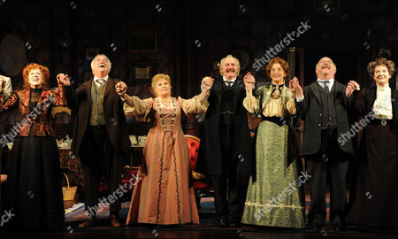 'When We Are Married' Press Night Curtain Call at the Garrick Theatre Rosemary Ashe Roy Hudd Michele Dotrice Simon Rouse Maureen Lipman Sam Kelly Susie Blake and David Horovitch