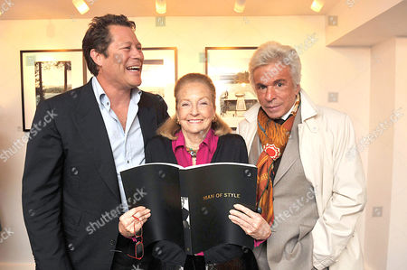 'A Photographic Journey Private View' Private View at the Little Black Gallery Arpad Busson Doris Brynner and Giancarlo Giammetti