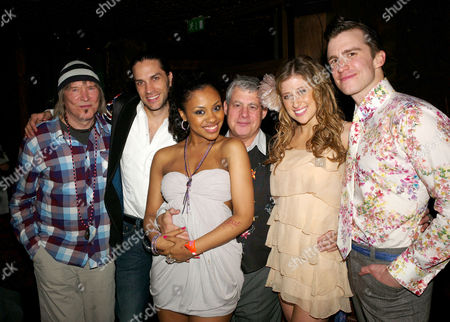 1st Night Party For Hair at Gilgamesh Bar the Stables Market London James Rado Will Swenson Sacha Allen Cameron Mackintosh Caissie Levy and Gavin Creel