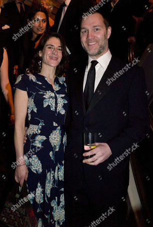 Stock Photo of Olivier Awards at the Grosvenor House Hotel Park Lane - Arrivals and Cocktail Party David Morrissey with His Wife Esther Freud