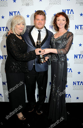 National Television Awards Press Room at the 02 Arena Greenwich Best Comedy Programme - Gavin and Stacey - Alison Steadman James Corden and Melanie Walters
