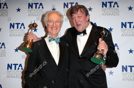 National Television Awards Press Room at the 02 Arena Greenwich Lifetime Recognition Award - Stephen Fry Presented by Bamber Gascoigne