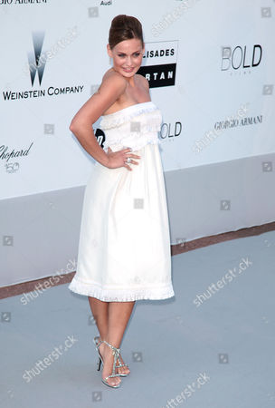 2010 Amfar Arrivals at the Hotel Du Cap During the 63rd Cannes Film Festival Anne Julia Hagen Miss Germany 2010