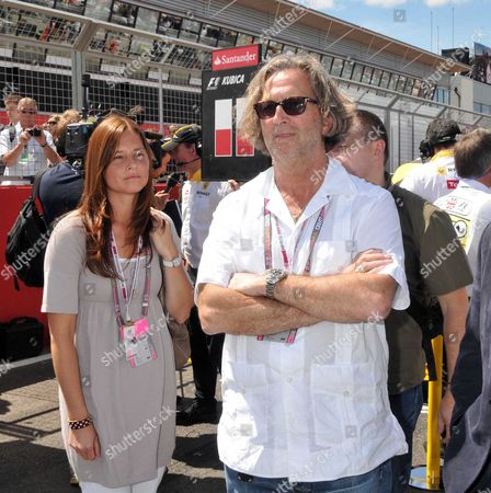 Formula 1 Santander British Grand Prix at Silverstone - Race Day Eric Clapton with His Wife Melia Mcenery