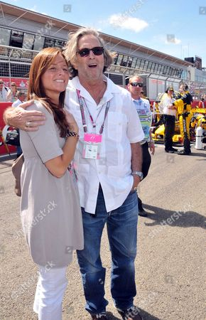 Stock Picture of Formula 1 Santander British Grand Prix at Silverstone - Race Day Eric Clapton with His Wife Melia Mcenery