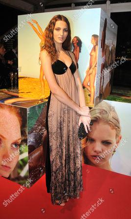Stock Picture of 2010 Pirelli Calendar Launch Party Reception at the Old Billingsgate Market Georgina Stojiljkovic